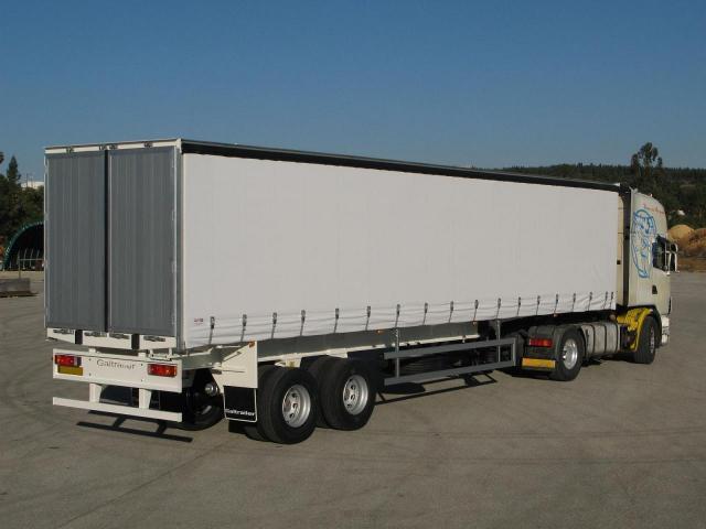 Galtrailer: semi reboque plataforma - 2 e 3 eixos - com lonas