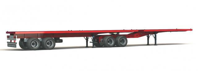 Galtrailer: semi-reboque plataforma - 2 eixos - interlink