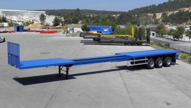 Galtrailer: plataforma - 3 eixos - extensivel