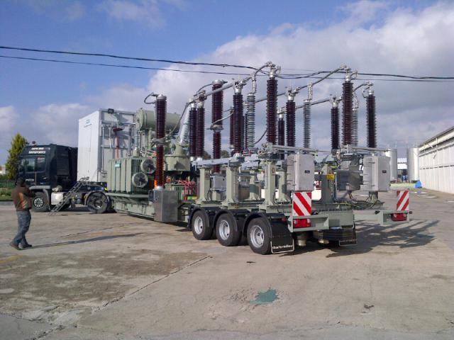 Galtrailer: porta-estação-eléctrica - 3 eixos