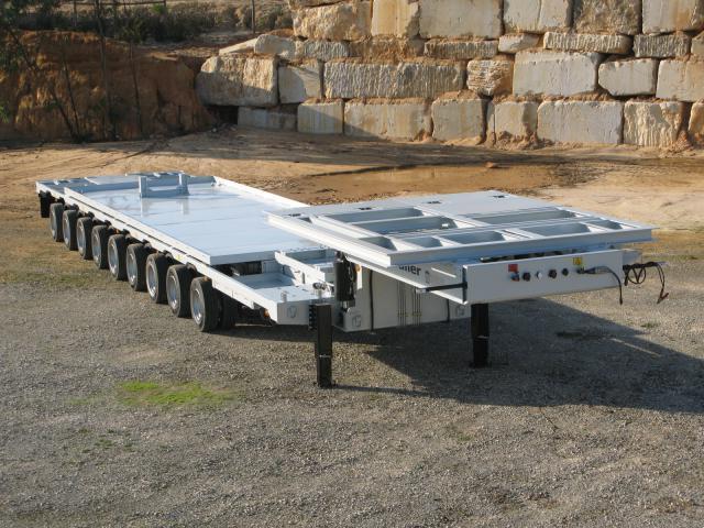 Galtrailer: porta-estação-eléctrica - 9 eixos
