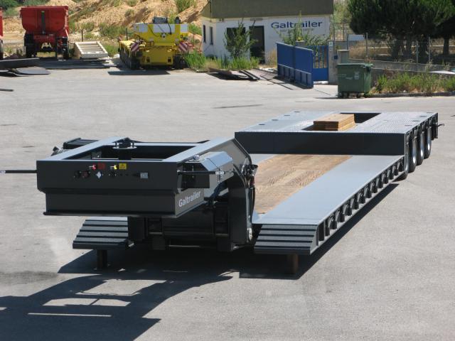Galtrailer: semi-reboque porta-máquinas - 4 eixos - pescoço desmontável e extensível