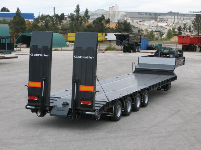 Galtrailer: semi-reboque porta-máquinas - 4 eixos - reforcado