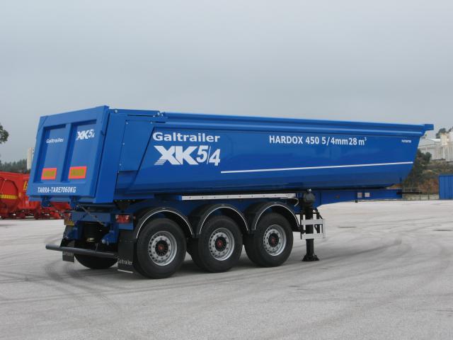 Galtrailer: semi-reboque basculante - 3 eixos