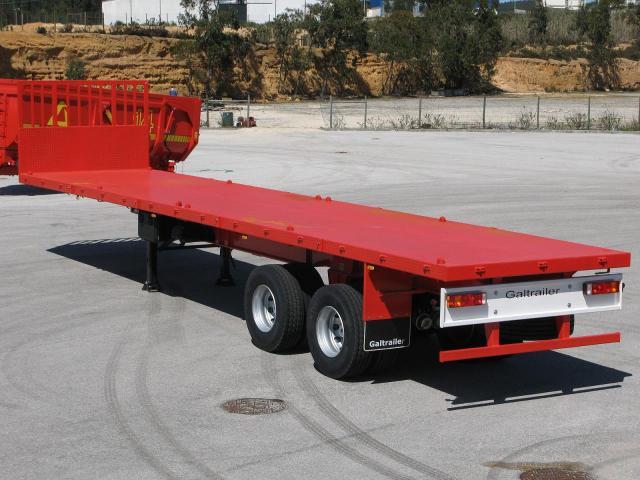 Galtrailer: semi reboque plataforma - 2 eixos