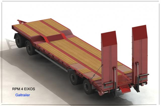 Galtrailer: semi reboque plataforma - 4 eixos