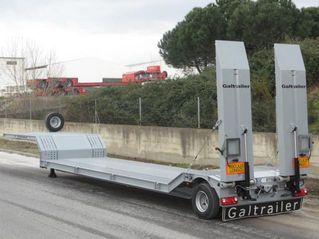 Galtrailer: semi-reboque porta-máquinas - 1 eixo
