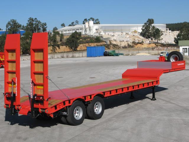 Galtrailer: semi-reboque porta-máquinas - 2 eixos - reforçado