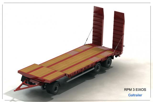 Galtrailer: semi-reboque porta-máquinas - 3 eixos