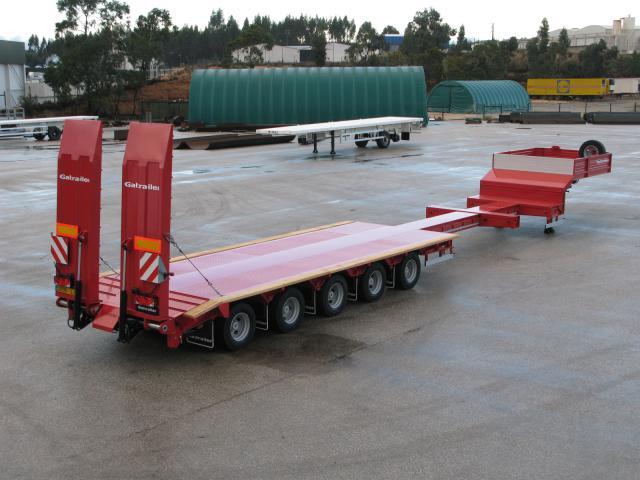 Galtrailer: semi-reboque porta-máquinas - 5 eixos extensíveis