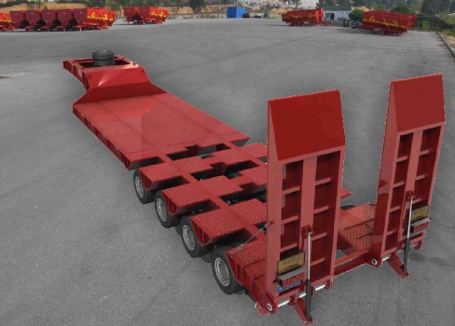 Galtrailer: semi-reboque porta-máquinas - 8 eixos